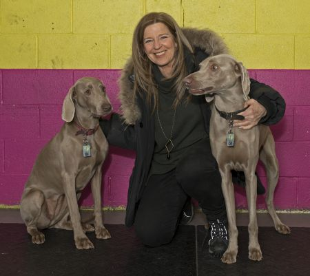 Anne Arnold with dogs